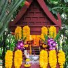 Spirit house at the traditional Thai house of Jim Thompson