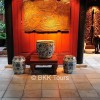 A collection of art objects at Jim Thompson House