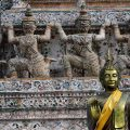 Thai traditional architecture at Wat Arun, Temple of Dawn