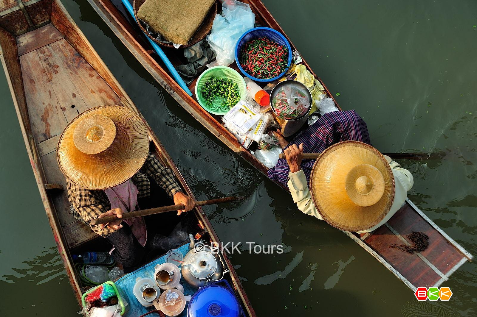 Railway and floating markets